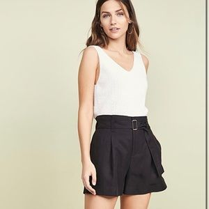 CLUB MONACO 6 black high waisted shorts 6
